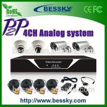 2015 4 camera dvr system cctv camera signal