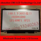 "Whoelsale 100% New A+ 14"" LED screen LP140WF1 SPJ1 SPK1 SPU1 SPB1 Laptop lcd led screen eDP IPS 1920*1080"