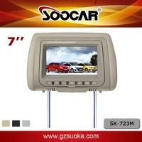7 inch Car Headrest Monitors TFT-LCD digital screen TV Tuner Video input Taxi Pillows Display