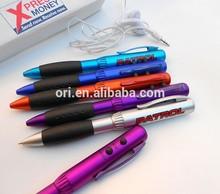 2015 new pen,Multifunction pen ,custom radio FM PEN with earphone