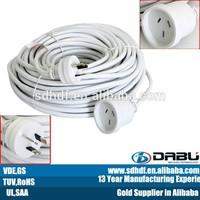 Australia 3 pin plug 250V H05RN-F power extension cords