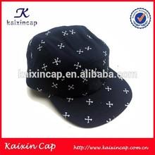 custom screen printed stars 5 panel cap/hat wholesale