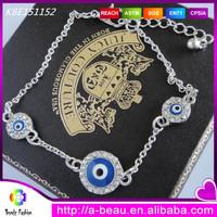 Chain attaching turkish evil eye charm classical bracelet