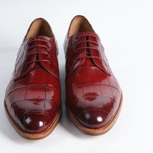Red 2015 DMH Denuine Leathe SoleNew Style High Class Men Genuine Leather Dress Shoes