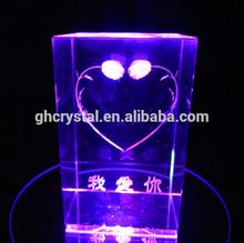 3D laser engraved Crystal Gift wedding Souvenir Home Decoration
