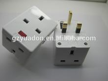 3 in 1 indicator light uk travel power plug adapter