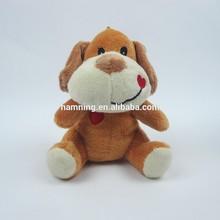 13cm oturan peluş hayvan tasarım köpek kalp nakış