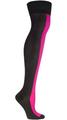 2015 de encargo de moda del diseño simple de Color sólido sobre la rodilla calcetines de algodón de Nylon moda de la escuela de las muchachas de las polainas de las