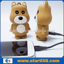 Cartoon PVC Bear external power bank charger cartoon 5200mah