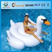 Large elegant swan inflatable water park toys/PVC material kids play swan wholesale