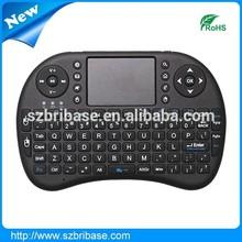 Cheap 2.4g 10m mini wireless keyboard mouse combo with touchpad Mini-QWERTY keyboard, multimedia, PC gaming control keys