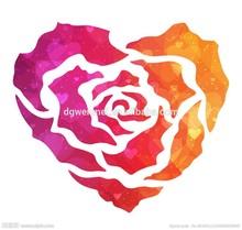 2015 Red heart design for girls waterproof sexy tattoo sticker