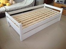 Living room wooden sofa bed children double layer bed