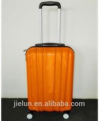 orange 4wheels TSA lock ABS PC travel luggage set,suitcase set