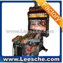LSSM-024 factory price authentic scene Terminator Salvation 4 55LCD TV gun shooting games/shooting video game machines RF 0115