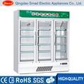 vertical refrigerador da bebida garrafas de bebida freezer resfriador de vidro multi portas de geladeira