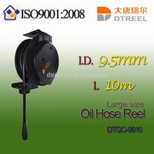 I.D. 9.5mm L 10m DTGO-9810 large size oil hose reel retractable hose reel fire hose reel price