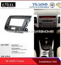 Radio Fascia Panel for Citroen C-Crosser Mitsubishi Outlander Peugeot 4007 Stereo Dash CD FaciaTriM Installation Kit