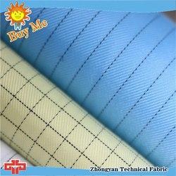 Rain protection hi vis antistatic fabric