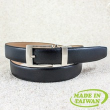 Automatic buckle mens genuine leather belt