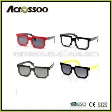 New Design Retro 8-bit Plastic Pixel Sunglasses Clear Lens sunglasses