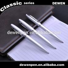 Premium promotional silver color pen, fat twist office advertising metal pen