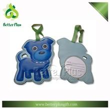 high end cute dog shape customized souvenir PU luggage tag
