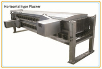 Horizontal type Poultry Goose Broiler Chicken Plucker, Unhairing Machine for Poultry Chicken Slaughter Machine