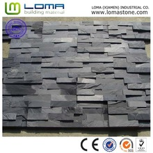 Loma black nature stone slate with outdoor wall cladding