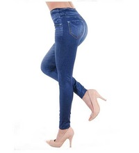 Lady Special Gril jeans basic motor rider woman jeans dark blue