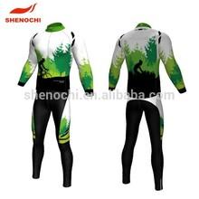 2015 China Dongguan factory price Digital printed Long sleeve Cycling wear
