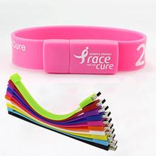 Promotion Gift Bracelet Shaped USB Flash Drive Pendrive Memory Stick mini usb Drive wrist strap with custom logo