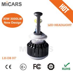 super high quality led headlamp h7 auto led lighting