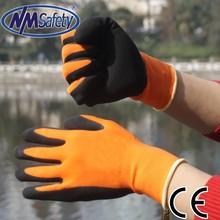 NMSAFETY 13 gauge safety latex grip construction glove work glove