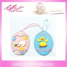 popular easter egg clay decoration, new fashionable kid toy easter claydecoration ,lovely easter egg polymer clay for Easter