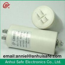 plastic round CBB60 capacitor 1uf 450V 2UF 450V 3UF 450V 5UF 450V 10UF 450V