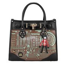 Korean new cartoon man lady PU shoulder bag China wholesale women shoulder bags
