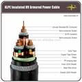 Iec 60502-2 185/240/300mm2 1 3 núcleo do núcleo do cabo de alimentação 11kv al/cu/xlpe/pvc blindado para instalação subterrânea