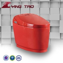 Bathrrom porcelain red color toilets