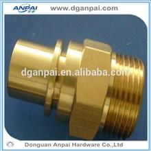 Most popular top precision custom cnc brass hose nipple made in China