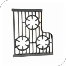 Assembled kitchen equipment cast iron spare parts gas grill grate with 3 burner