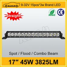 """Tuning light 9-32v DC 17"""" 45w offroad led bar lights"""