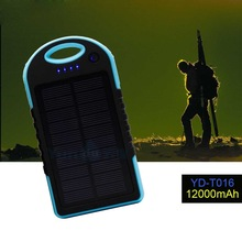 2015 Solar Panel 12000mah Power Banks YD-T016 super slim power bank