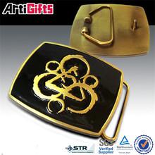 Sport competition metal insert belt buckles