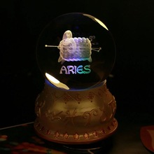 The Collector's Edition of Crystal Constellation ball with led base