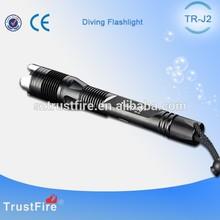 TrustFire J2 Waterproof LED Scuba Dive Flashlight,Rechargable Diving Torch Light,Flashlight Wholesale Hunting and Fishing