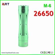 2015 vaporizer smoking pen white 26650 Skyline m6 mod clone