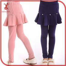 Free shipping QT14 Kids girls fall and winter pearl flounced leave two leggings