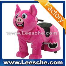 Walking animal ride for kids and parents/plush animal ride Pig red LSJQ-209