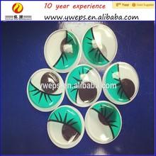 YIPAI craft toy`s Green belt eyelashes eyes